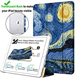 DuraSafe Cases for Apple iPad Mini 4th Gen 2015-7.9 Slimline Series Lightweight Protective Cover with Dual Angle Stand & Clear PC Back Shell - Starry Night