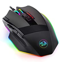Redragon M801 PC Gaming Mouse LED RGB Backlit MMO 9 Programmable Buttons Mouse with Macro..