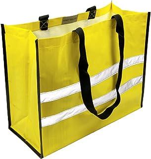 EXACT SELLER Einkaufstasche Umhängetasche gelb Eco Friendly Shopper Reflektierend Mehrweg / 45x35x18cm