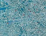 Palomar Pin City - Mapa de Berlin, color azul claro