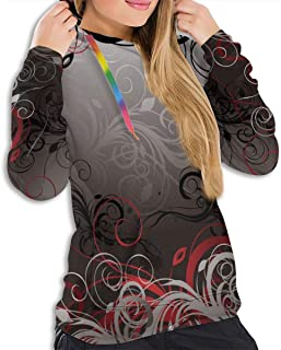 Hooded Sweatshirt for Girls Women, Hip-Hop Tops Streetwear