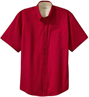 Clothe Co. Men's Short Sleeve Wrinkle Resistant Easy Care Button Up Shirt