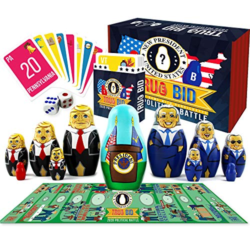 True Bid Board Games - Biden Trump 2020 Fun Family Board Games - Party Card Games for Adults - Donald Trump vs Joe Biden Board Game - Vote Election 2020
