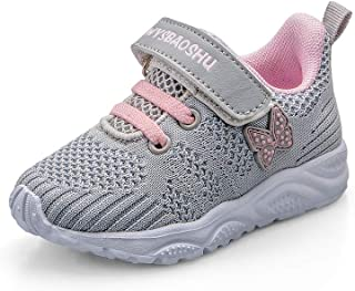 Baby Girls Trainers Non Slip Kids Toddler Little Girl Sneakers First Walking Shoes for Crib Daily Casual Outdoor Lightweig...
