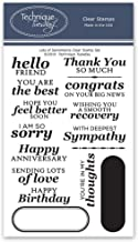 Lots of Sentiments Clear Stamps | Photopolymer Stamps - Clear Rubber Stamps | Stamps for Card Making | Scrapbooking Stamps