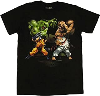 Vs Capcom - David Vs Goliath Soft T-Shirt - Large