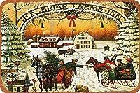 クリスマスプレゼントサンタムース(1)さびた錫のサインヴィンテージアルミニウムプラークアートポスター装飾面白い鉄の絵の個性安全標識警告アニメゲームフィルムバースクールカフェ40cm*30