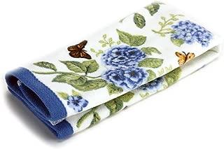 Lenox Printed Fingertip Towel, Blue Floral Garden