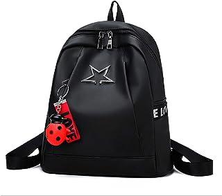 حقيبة ظهر للنساء أنيقة مصممة جلدية سفر مدرسة حقائب كتف كبيرة للسيدات مع ملحق معلق