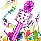 Microfono Karaoke, Buty 4 IN 1 Wireless Karaoke Portatile con Altoparlante, Cantare Player Microfono Bluetooth Bambini per KTV Home Party Singing, Compatibile con Android iOS PC Smartphone