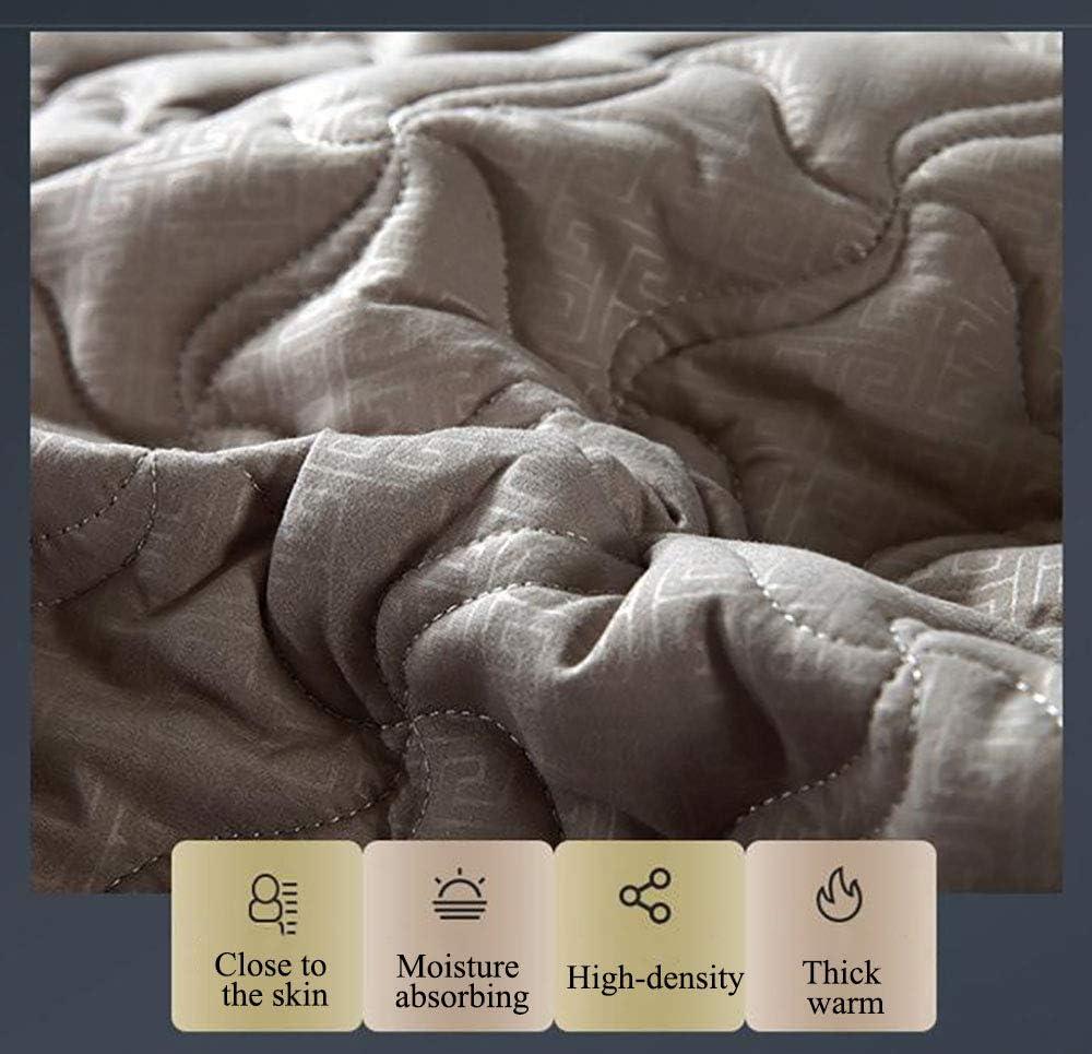 WANGCY Housse De Matelas 180X220, Protège-Matelas Gris, Épais Chaud Peau Confortable Pliable Rangement Pratique avec Bande Élastique Rétractable Forfait Complet À 360 Degrés Pink