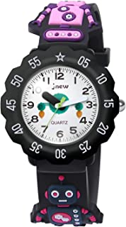 HIwatch Kids Watches 3D Cute Cartoon Waterproof Silicone Toddler Wrist Quartz Watch Time Teacher Best Gift for Age 3+ Children Little Boys Girls