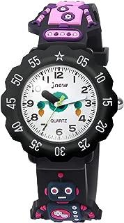 HIwatch Kids Watches 3D Cute Cartoon Waterproof Silicone Toddler Wrist Quartz Watch Time Teacher Best Gift for Age 3+ Children Little Boys Girls