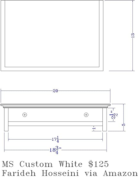 CUSTOM SIZE Wood Monitor Stand With Drawer And Cubby WHITE