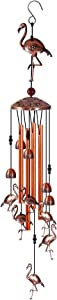 Sougeer Wind Chimes-35 Inch Retro Wind Bell Outdoor Decoration Gifts for Mom,Garden Windchimes Decorations Outdoor Patio Decorations Indoor Outdoor Wind Chimes (Flamingo)