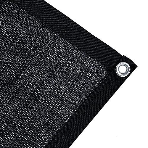 Agfabric 70% Sun-Block Shade Cloth Net Mesh Shade with Grommets for Garden Patio 10' X 20', Black