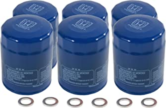Acura / Honda OEM Genuine 15400-PLM-A02 Engine Oil Filter + Drain Washers - Set of 6