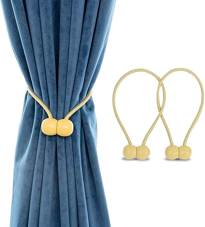 2 Stück Pearl Magnetic Curtain Voile Raffhalter Zurrgurte Schnallenclips