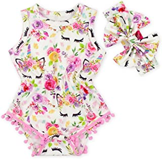 3a178e02804 BBPIG Newborn Baby Girls Ethnic Style Sleeveless Tassels Backless Floral  Flower Rompers for Baby Girls with