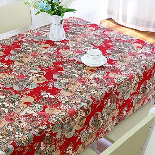 DAGUAI Tablecloth table runner Cotton and Linen Tablecloth Bohemian Coffee Table Tablecloth Creative Tablecloth 140x140cm