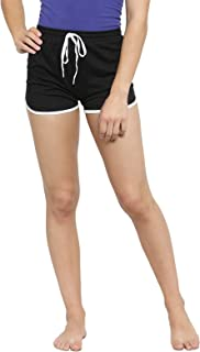 Boston Club Women Black Solid Lounge Shorts