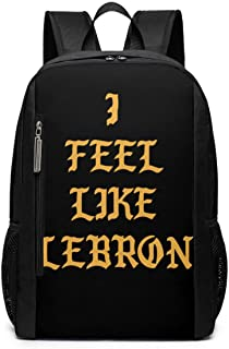 I FEEL LIKE LEBRON Laptop Backpack 17inch- School Travel Backpack Casual Daypack For Business/College/Women