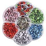 Mini Brads 1 caja Mini Brads Multicolour Variados Metálicos Redondos Encuadernadores Pequeños Clips Sujetadores para Fabricación de Tarjetas Scrapbooking Bricolaje Craft Making Stamping 6-12mm