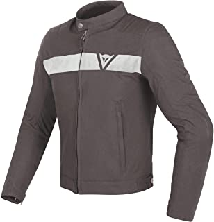 Dainese Stripes Tex Men's Street Motorcycle Jackets - Dark-Brown/White / 44