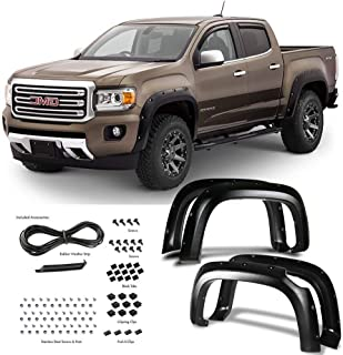 Super Drive P62S0547T-Fender Flares for 1999-2007 Ford F250 / 350 Pocket Riveted Wheel Covers Bolt On 4 Pieces Set Textured Black