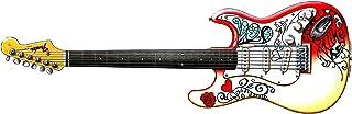 George Morgan Illustration Tarjeta de felicitación de Guitarra Fender Stratocaster como jugó en Monterey de Jimi Hendrix, DL tamaño