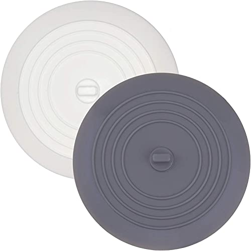 (2 Pack) Silicone Tub Stopper, Premium Bathtub Drain Stopper, One of The Best Sealing Sink Stopper, Upgraded Drain Pl...