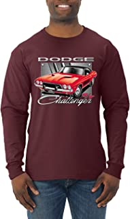 Dodge Challenger R/T Classic Licensed Retro | Mens Cars and Trucks Long Sleeve T-Shirt