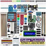 SUNFOUNDER Raspberry Pi Starter Kit para Raspberry Pi 4B 3 B + 400, tutoriales en línea de 537 páginas, código Python C Java Scratch, 65 proyectos para Principiantes de Raspberry Pi