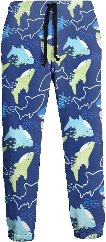 Active Sweats Jogger Pants Cartoon Shark Running Joggers Casual Sweatpants for Men Women