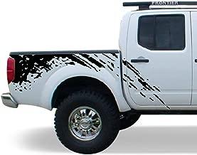 Bubbles Designs Decal Sticker Vinyl Bed Splash Mud Kit Compatible with Nissan Frontier Navara 2004-2015 (Black)