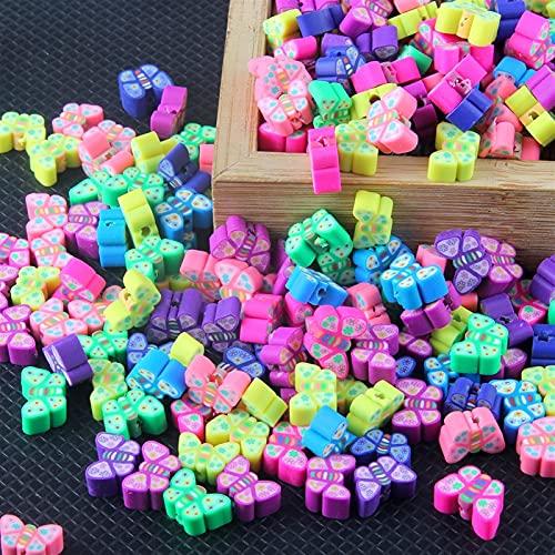 DKANG Kit para Hacer Pulseras, 200 Unids Diferentes Animales Polymer Clay Beads, Abalorios para Hacer Collares, para Bricolaje Pendiente De Pulsera De Collar Hacer Joyas