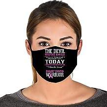 Breast Cancer Warrior Awareness Survivor Quote Face Mask Balaclavas Black