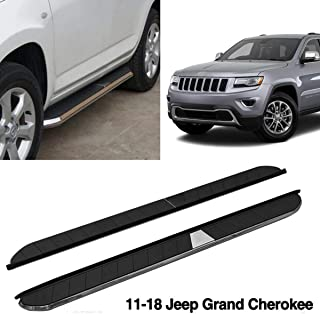 Aluminium Running Boards Side Step Door Side Bars Protector Fit 2011-2018 Jeep Grand Cherokee