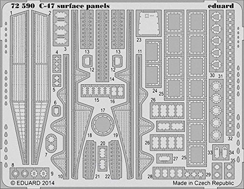 Eduard Photoetch 1:72 - C-47 Surface Panels (AIR08014)