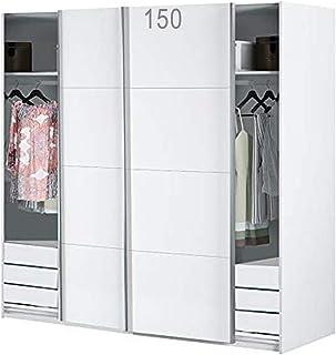 HABITMOBEL Armario Dormitorio Blanco 204 Puertas corrs con Fondo Especial DE 60cm (CAJONERAS Incluidas) edera