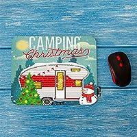 キャンプクリスマスおしゃれスリップ防止マウスパッドクリスマスヴィンテージトラベルポスタートラベルトレーラーで冬森装飾ゲームおしゃれスリップ防止マウスパッド長方形滑り止めラバーおしゃれスリップ防止マウスパッドコンピューター用ラップトップ7.9x9.5インチ