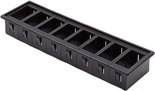 YYAN 8 Pack Rocker Switch Panel Switch Holder Housing Kit (Color : Black)