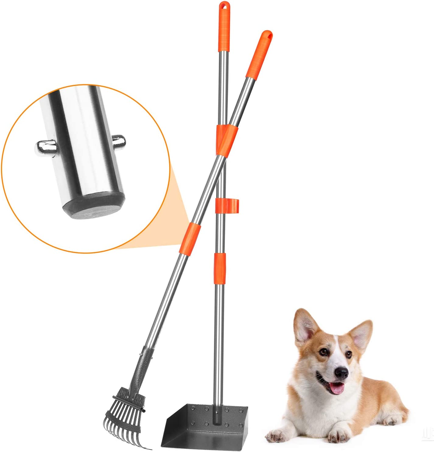 BABYLTRL Dog Pooper Scooper Stainless Metal R Pet and Tray Poop Tampa Manufacturer direct delivery Mall