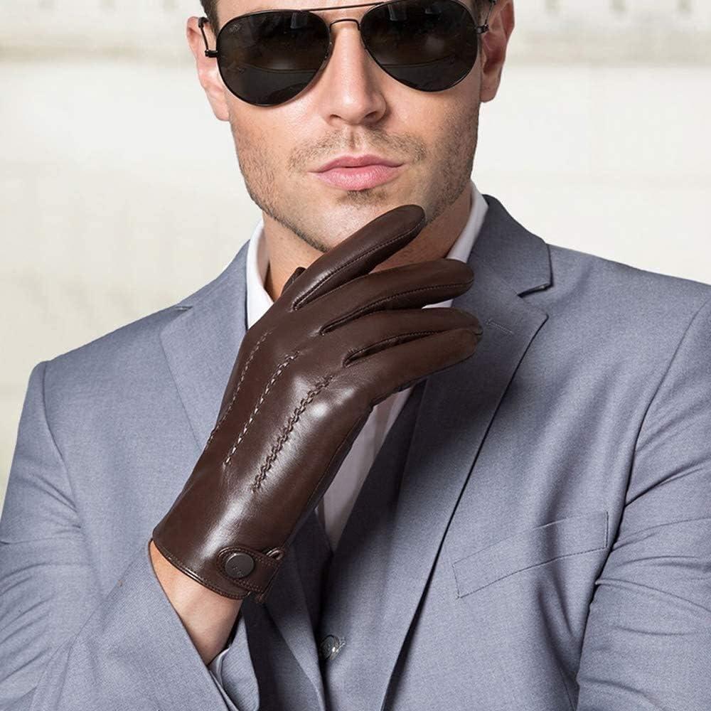 Men's gloves Goatskin Gloves Autumn Winter Max 65% OFF and Warm High order Ve