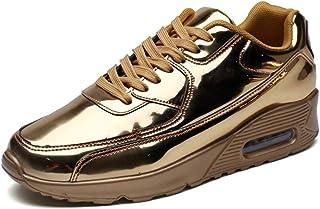 CAIFENG Chaussures d'athlétisme for Hommes Chaussures de Sport Chaussures à Lacets Style PU Cuir PU Coussin d'air à Fond d...