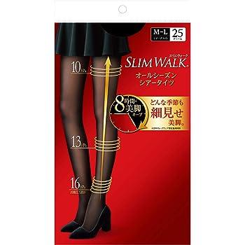 ピップ スリムウォーク オールシーズン シアータイツ ブラック MLサイズ 着圧 SLIMWALK
