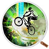 Luxury Thick Round Beach Towel Beach Blanket with Tassels, Microfiber, Oversized Extra Large 60 Inch, Yoga Mat, Table Cover, Picnic Mat, Multi-Purpose, Multifunctiona, Purposes Blanket №SW87315
