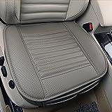 Cojín de asiento, protección del asiento de coche, cómodo y transpirable Cuatro estaciones generales Pu cuero Bambú carbón de leña transpirable coche interior (Gris, 1 Pcs)