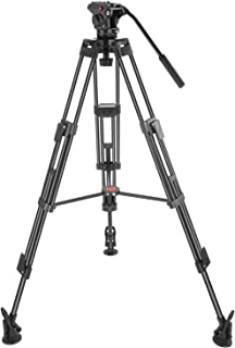 Neewer Trípode Profesional 163cm Aleación de Aluminio para Cámara de Video con 360 Grados Cabeza Arrastre Fluido 1/4 y 3/8 Pulgada Placa Zapata Rápida Bolsa Carga hasta 8kg