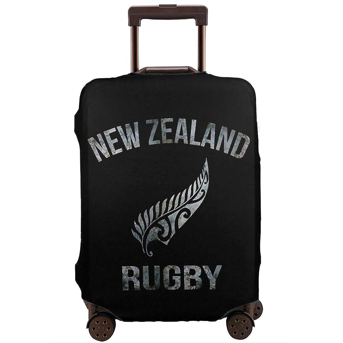 財布十先史時代のNew Zealand Rugby ニュージーランド ラグビー スーツケースカバー トランクカバー キャリーカバー 伸縮 ラゲッジカバー お荷物カバー 旅行 便利 おしゃれ かわいい 保護 防塵 目立つ ファスナー付き サイズとデザイン選択